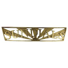Sundials Yacht Name Board