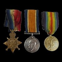 WW1 Medal Trio Awarded To 14824 Pte H. Brown Welsh Regt