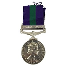 General Service Medal With Canal Zone Clasp To 21126317 CFN M.C.J. COX REME
