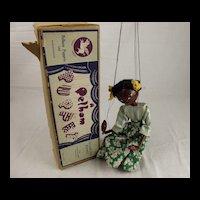 Circa 1950s Pelham Puppet Type SS Girl with Flower Skirt