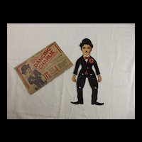 1930s British made moveable Charlie Chaplin cardboard figure set