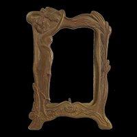 c1900 Art Nouveau Brass Frame