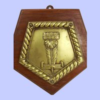 HMS Norfolk (78) Mounted Bronze Ships Badge