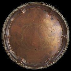 1905 Trafalgar Commemorative Nelsons Victory Copper Tray