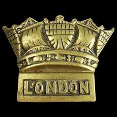 HMS London (69) Bronze Ships Crown Badge