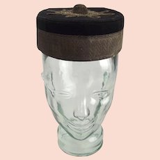 Cased And Named Victorian Captains Royal Artillery Pillbox Forage Cap