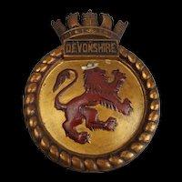 HMS Devonshire (D39) Boat Badge