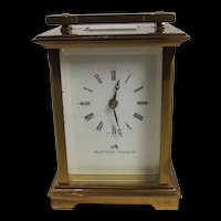 Matthew Norman 1754 Swiss Carriage Clock in Original Box With All Documents and One Key