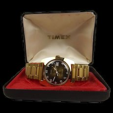 c1970 Gents Timex Square Gold Plated Wrist Watch