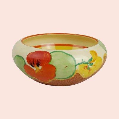 Clarice Cliff Bizarre Nasturtium Pattern Bowl c1930's