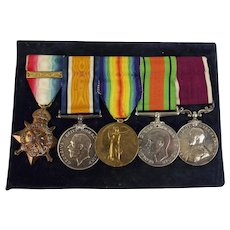 WW1 & WW2 Medal Set Inc. 1914 Mons Star & LSGC Medal Awarded To H.B. Keily - Royal Engineers