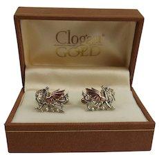 Clogau Silver & Rose Gold Welsh Dragon Cufflinks
