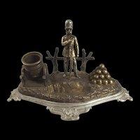 A Crimean War Spelter Ink Stand