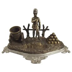 A Crimean War Spelter Ink Stand