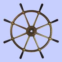 Bronze Ships Wheel By Mactaggart, Scott & Co. Ltd. From Malta Port