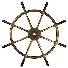 Bronze Ships Wheel By Mactaggart, Scott & Co. Ltd. From Malta Port