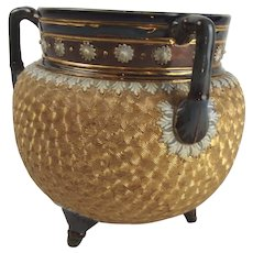 Early 20thC Royal Doulton Slater Cauldron Tyg Vase