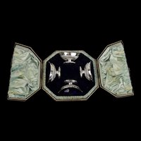 Cased Set of Four Silver Salts c1884