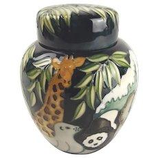 Moorcroft Noahs Ark Ginger Jar By Rachel Bishop