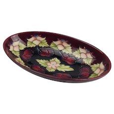 Moorcroft Morello Cherry Pattern Oval Dish c1995