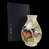 Boxed Moorcroft Butterfly & Brambles Vase c1984