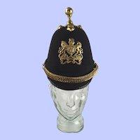 Victorian Royal Engineers Black Cloth Helmet