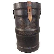 Large 19th Century Royal Navy Cordite Carrier Large Canister