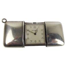 c1927 Sterling Silver Movado Purse Pocket Watch