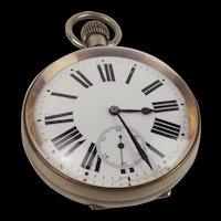 Large Argentan Goliath Pocket Watch