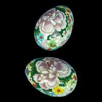A Pair of Chinese Cloisonne Decorative Eggs c1870
