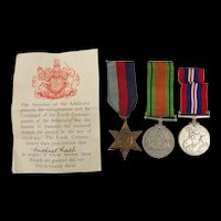 WW2 Medal Trio awarded to Michael Lash