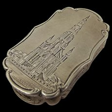 Early 19thC Nathaniel Mills Castle Top Vinaigrette - Scott Monument