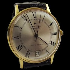 Gold Plated Hamilton Intra-Matic Automatic Wrist Watch