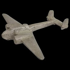 WW2 Hand-Crafted Aluminium Model Of Messerschmidt BF 110
