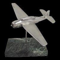 WW2 Cast Aluminium Model Of A Grumman TBF Avenger On Stand