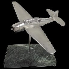 WW2 Cast Aluminium Model Of A Grumman TBF Avenger On Stand