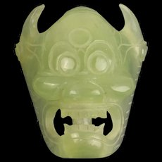 Chinese Jade Mask Face Belt Buckle
