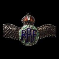 RAF Enameled Silver Sweetheart Badge #1