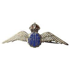 RAF Enameled Silver Sweetheart Badge #2