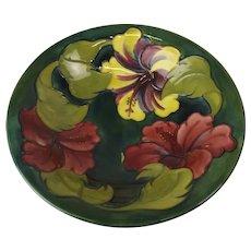 1972 Moorcroft Centenary Hibiscus Pattern Bowl