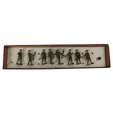 Britains Toy Soldiers British Infantry Set No. 195 From The 1930's