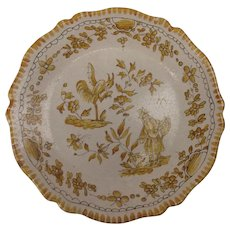 French Faience Plate c1800 #2