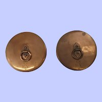 Pair Of Early 20th Century Copper Speaking Tube Covers From A Royal Yacht