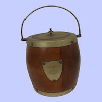 Tea Caddy Made From Mahogany Of 1905 Battleship HMS Hindustan