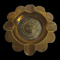 WW1 German Trench Art Ashtray With Buckle Centre