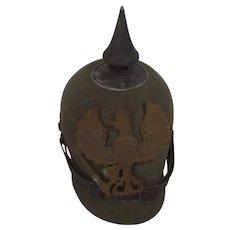 WWI Imperial German Prussian Ersatz Felt Pickelhaube Helmet