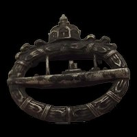 WWI Imperial German Kaiserliche Marine U-boat Badge By Walter Schot