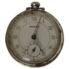 WWI German Wurttemberg Regiment Trench Art Pocket Watch By Anker