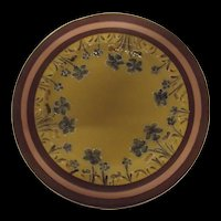 Circa 1900 James Macintyre & Co Plate With Violets Designed By William Moorcroft
