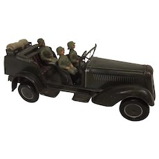 WW2 Era Tinplate Clockwork WH-29 German Army Kúbelwagen